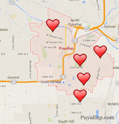 Places I would like to live Puyallup