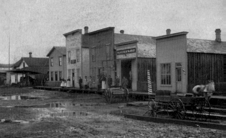 Downtown Puyallup in 1883