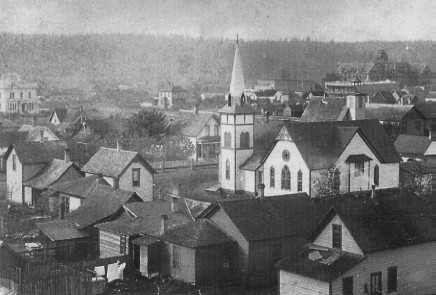 This view of Puyallup, taken from Central School's tower.