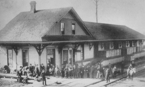 Puyallup's Train Station.  1888