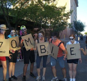 Scrabble Words Zombie Halloween Costume