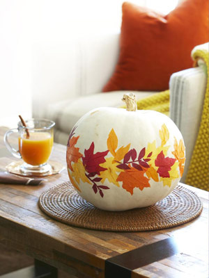 diy-paper-leaves-pumpkin-decoupage