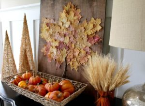 Thanksgiving leaf decor